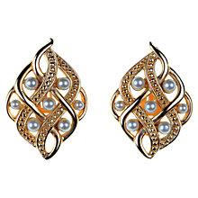 Buy Susan Caplan Vintage Swarovski Pearl Scatter Clip-On Earrings, Gold Online at johnlewis.com