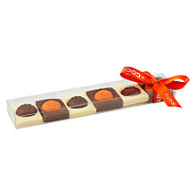 Buy Cocoabean Company Six Pumpkin Square Chocolates, 75g Online at johnlewis.com