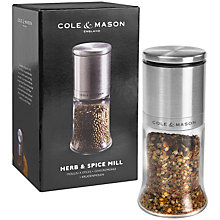 Buy Cole & Mason Kingsley Herb and Spice Mill Online at johnlewis.com