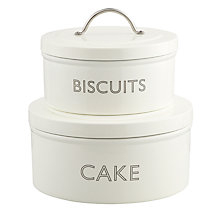 Buy John Lewis Croft Collection Stackable Cake and Biscuit Tins, Set of 2 Online at johnlewis.com