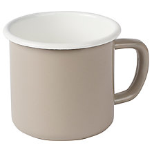 Buy Garden Trading Enamel Mug, Clay Online at johnlewis.com