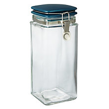Buy John Lewis Croft Collection Square Glass Storage Jar, 0.24L Online at johnlewis.com
