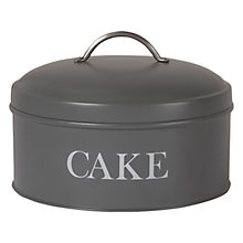 Buy Garden Trading Cake Tin, Charcoal Online at johnlewis.com