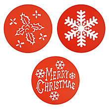 Buy Eddingtons Christmas Stencils, Set of 3 Online at johnlewis.com