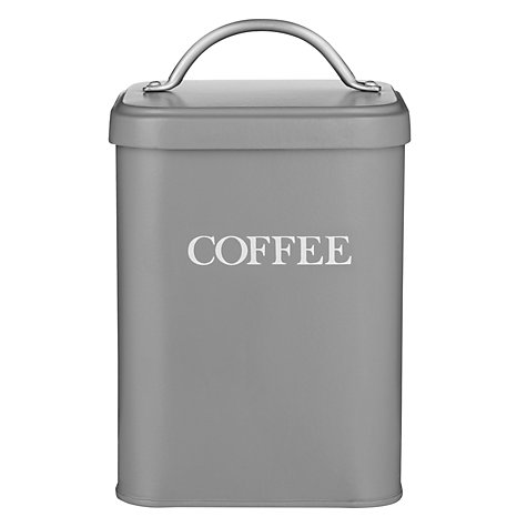 Buy Garden Trading Coffee Canister, Charcoal Online at johnlewis.com