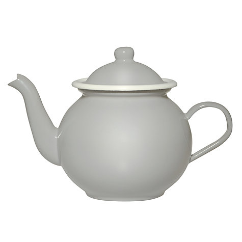 Buy Garden Trading Enamel Tea Pot, Flint Online at johnlewis.com
