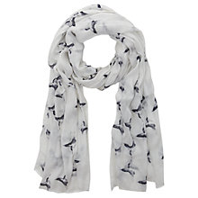 Buy Mint Velvet Lois Print Scarf, Ivory Online at johnlewis.com