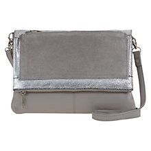 Buy Mint Velvet Jessica Leather Across Body Bag, Grey Online at johnlewis.com