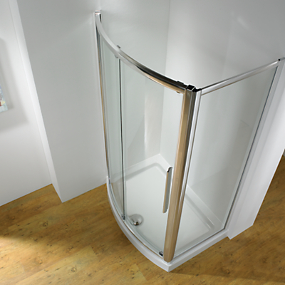 John Lewis 1200 x 700mm Shower Enclosure with Bowed Front Sliding Door