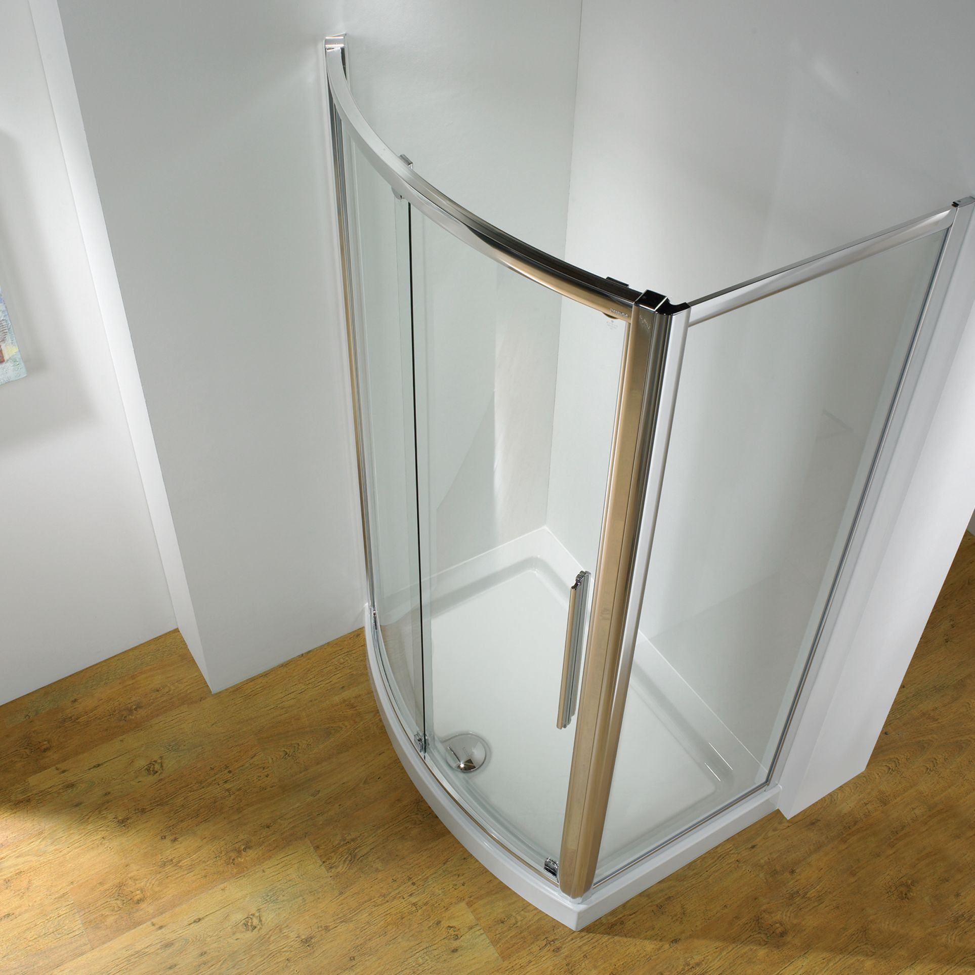 John Lewis Surround 1200 x 700mm Shower with Bowed Front Sliding Door