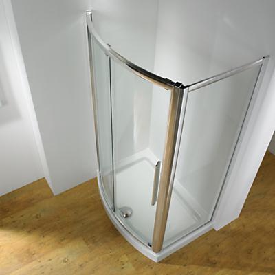 John Lewis 170 x 70cm Shower Enclosure with Bowed Front Sliding Door