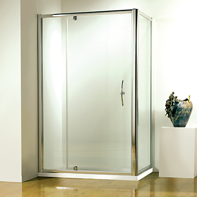 John Lewis 80 x 80cm Shower Enclosure with Pivot Door and Side Panel