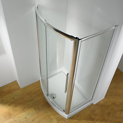 John Lewis 150 x 70cm Shower Enclosure with Bowed Front Sliding Door