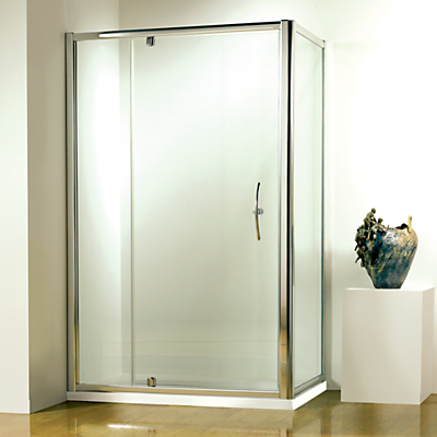 John Lewis Surround 100 x 80cm Shower Enclosure with Pivot Door and Side Panel