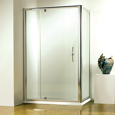 John Lewis 120 x 80cm Shower Enclosure with Pivot Door and Side Panel