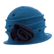 Buy John Lewis Polkadot Pleat Wool Cloche Hat, Teal Online at johnlewis.com