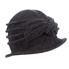 Buy John Lewis Wool Pleat Bow Cloche Online at johnlewis.com