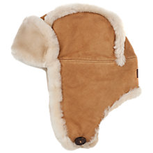Buy UGG Classic Bailey Aviator Hat, One Size, Chestnut Online at johnlewis.com