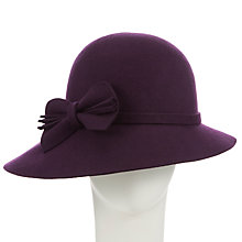 Buy John Lewis Asymmetric Brim Cloche Wool Hat, Merlot Online at johnlewis.com