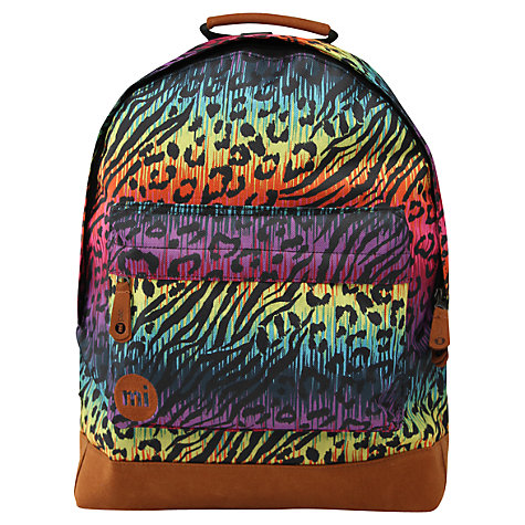 Buy Mi-Pac Hot Leopard Print Backpack, Multi Online at johnlewis.com