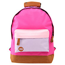 Buy Mi-Pac Mini Colour Block Backpack, Pink Online at johnlewis.com
