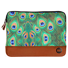 Buy Mi-Pac Peacock Print Laptop Sleeve, Green/Multi Online at johnlewis.com