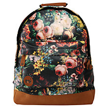 Buy Mi-Pac Classic Rose Print Backpack, Multi Online at johnlewis.com