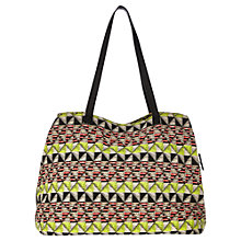 Buy Warehouse Zip Round Canvas Shopper Handbag, Multi Online at johnlewis.com