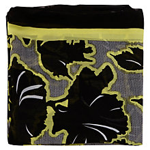 Buy Warehouse Wallpaper Floral Border Scarf, Black Online at johnlewis.com