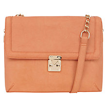 Buy Warehouse Zip Side Messenger Handbag, Coral Online at johnlewis.com