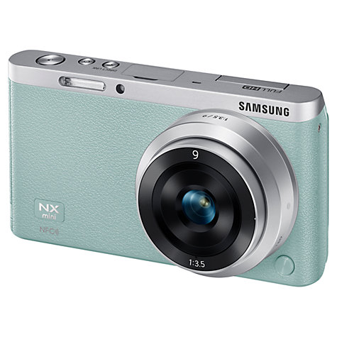 "Buy Samsung NX Mini Compact System Camera with 9mm Lens, HD 1080p, 20.5MP, Wi-Fi, NFC, 3"" Touch Screen Online at johnlewis.com"