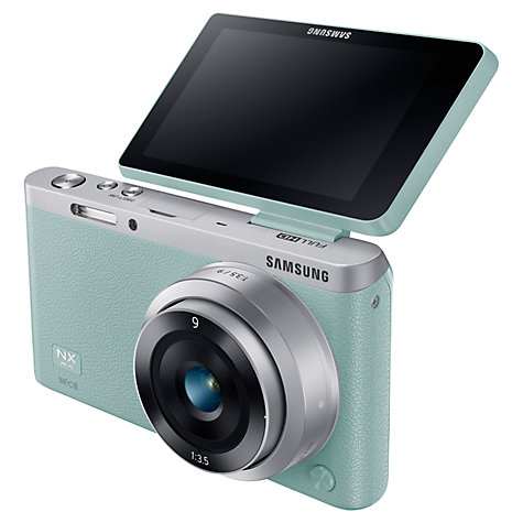 "Buy Samsung NX Mini Compact System Camera with 9mm Lens, HD 1080p, 20.5MP, Wi-Fi, NFC, 3"" Touch Screen and Adobe Photoshop Lightroom Online at johnlewis.com"