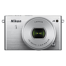 "Buy Nikon 1 J4 Compact System Camera with 10-30mm Lens, HD 1080p, 18.4MP, Wi-Fi, 3"" LCD Screen Online at johnlewis.com"