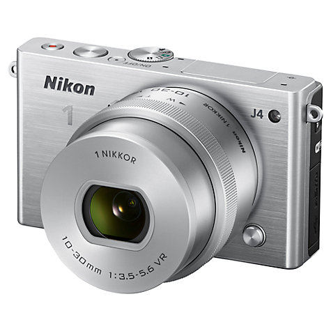 Buy Nikon 1 J4 Compact System Camera with 10-30mm Lens, HD 1080p, 18.4MP, Wi-Fi, 3 LCD Screen Online at johnlewis.com