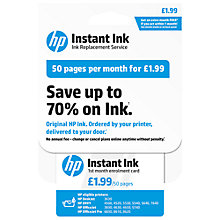 Buy HP Instant Ink Enrolment Card, 50 Pages Online at johnlewis.com