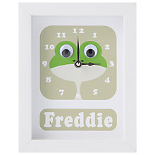 Buy Stripey Cats Personalised Frog Framed Clock, 23 x 18cm, Green Online at johnlewis.com
