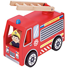Buy John Lewis Wooden Fire Engine Play Set Online at johnlewis.com