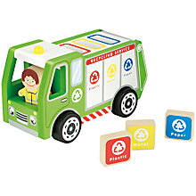 Buy John Lewis Wooden Recycling Lorry Online at johnlewis.com