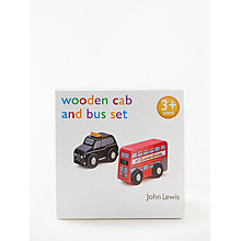 Buy John Lewis Wooden London Bus & Black Cab Set Online at johnlewis.com