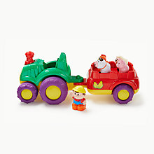 Buy John Lewis Musical Farm Tractor & Trailer Online at johnlewis.com