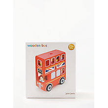 Buy John Lewis Wooden Toy London Double-Decker Bus Online at johnlewis.com