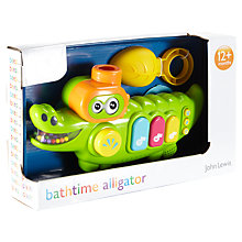 Buy John Lewis Musical Bathtime Alligator Online at johnlewis.com