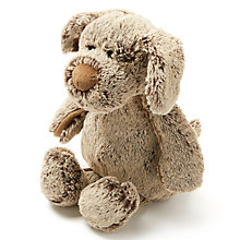 Buy John Lewis Two Tone Plush Sitting Dog Online at johnlewis.com