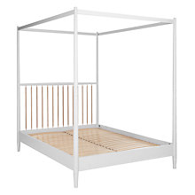 Buy John Lewis Croft Collection Lomond 4 Poster Bedstead, Superkingsize, Grey Online at johnlewis.com