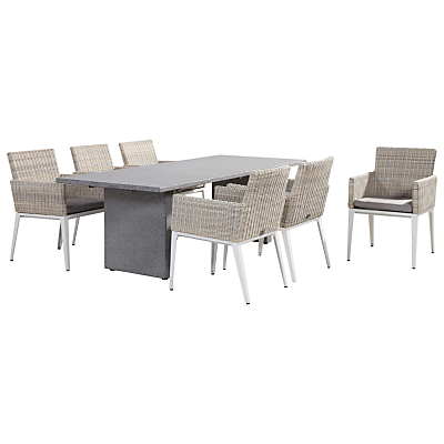 4 Seasons Outdoor Lazio Dining Table and 6 Riviera Seats