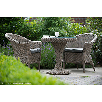 4 Seasons Victoria Outdoor Bistro Table and 2 Chester Chairs