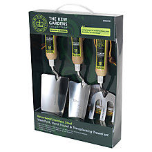 Buy Kew Gardens 3-Piece Gardening Gift Set, Stainless Steel Online at johnlewis.com