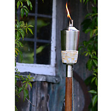 Buy Foras Mira Outdoor Burner, Brushed Stainless Steel / Teak Pole Online at johnlewis.com
