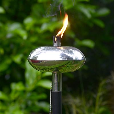 Foras Nash Brushed Stainless Steel and Black Burner