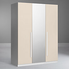 Buy House by John Lewis Mix it Block Handle Bedroom Range, House Putty/Matt White Online at johnlewis.com